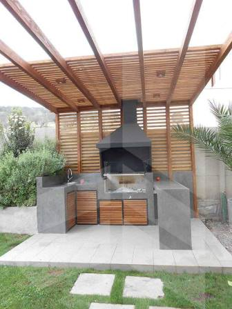 Espectaculares dise os de asadores para tu patio for Patios rusticos de casas