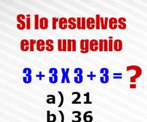 Reto del Día: Resuelve el Este Acertijo Matemático, Solo Algunos Podrán