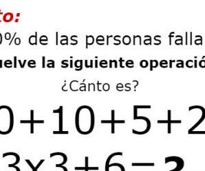 Reto: Resuelve la Siguiente Operación; El 90% de las Personas Fallan