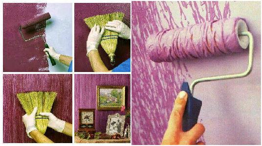 10 ideas geniales para pintar y hacer texturas en las paredes - Como pintar una pared con textura ...