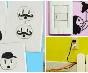 Ideas para que DecoresEnchufes, Cables y Apagadores
