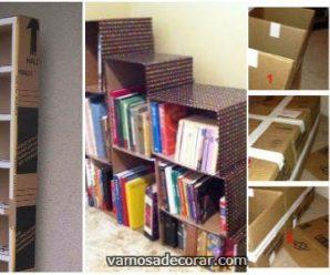 Transforma Cajas de Cartón en Estantes y Libreros