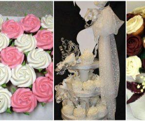 Ideas para Presentar Cupcakes en Bodas, XV Años o Baby Showers