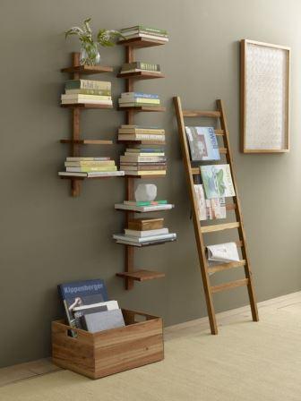 15 dise os de repisas m s originales para organizar y for Repisa escalera