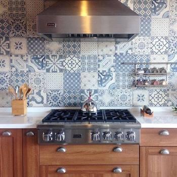 Cocinas decoradas con azulejos hidr ulicos - Azulejo para cocina rustica ...
