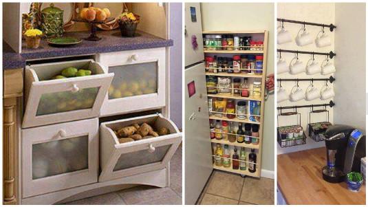 13 buenas maneras de ahorrar espacio en la cocina - Muebles ahorra espacio ...