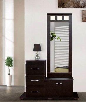 15 estilos de recibidores minimalistas for Espejos de madera modernos
