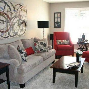 bell simas salas decoradas en gris y rojo