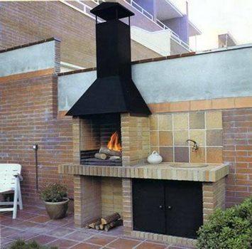 Asadores y hornos rusticos para tu patio - Paelleros de obra modernos ...