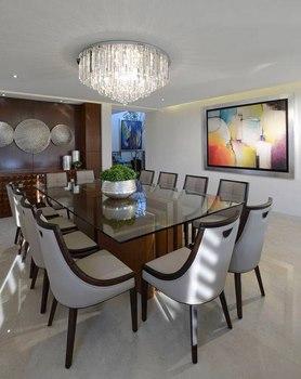 12 comedores modernos que te fascinar n for Cuadros modernos para decorar cocinas