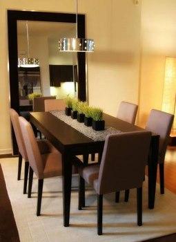 Ideas para combinar tu comedor con un hermoso espejo for Espejos horizontales para comedor