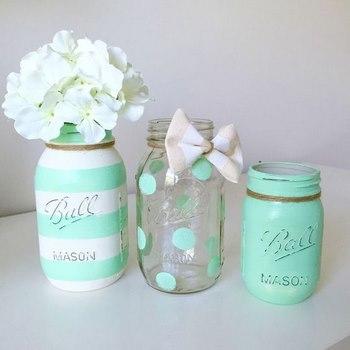 15 ideas para decorar tus frascos de vidrio for Ideas con frascos de vidrio