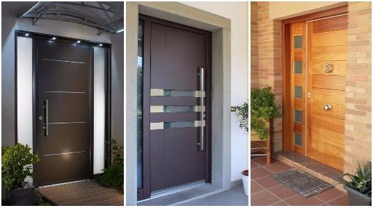 Dise os modernos para la puerta principal de tu casa - Puertas disenos modernos ...