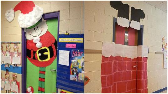 15 ideas para decorar tus puertas con el tema navide o - Ideas para decorar la puerta en navidad ...
