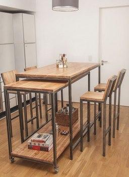 Accesorios de herreria para decorar tu casa 15 ideas - Mesa alta comedor ...