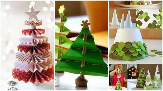 Crea arboles de navidad con papel maravillosas ideas - Manualidades de arboles de navidad ...