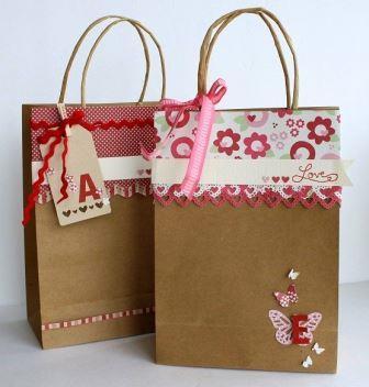 15 hermosas ideas para decorar bolsas de papel - Como decorar bolsas de papel ...