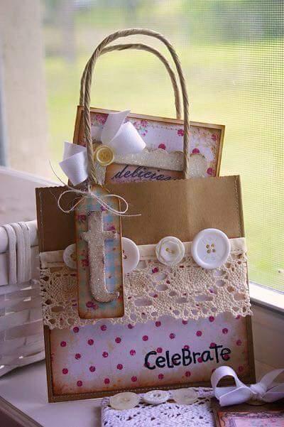 15 hermosas ideas para decorar bolsas de papel - Bolsas para decorar ...