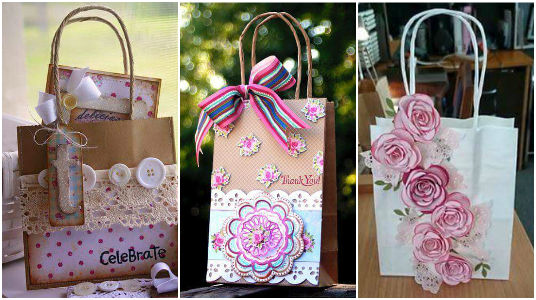 15 Hermosas Ideas Para Decorar Bolsas De Papel