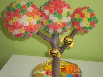 15 ideas para realizar centros de mesa con dulces bellas - Como hacer centros de mesa con dulces para bautizo ...