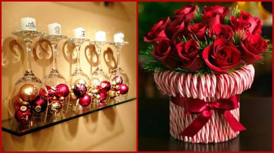 Crea grandiosos y creativos centros de mesa navide os 15 - Arreglos navidenos faciles de hacer ...