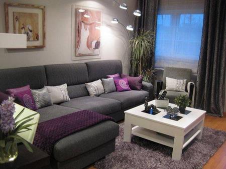Chiquitas pero bonitas 16 decoraciones de interiores de - Muebles grises paredes color ...