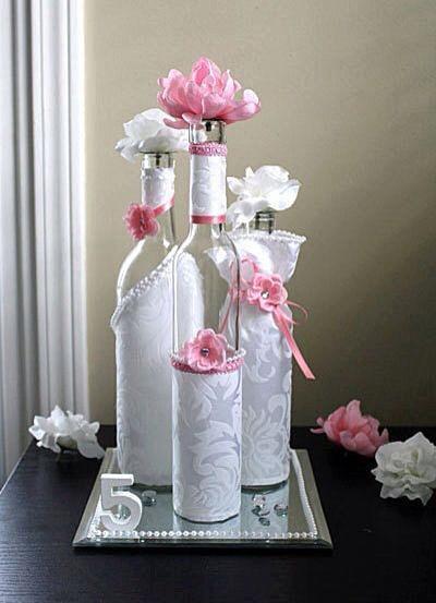 Conoce las decoraciones de botellas de vidrio m s hermosas - Decoracion de botellas ...