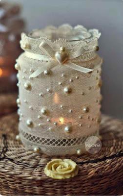 10 ideas para decorar frascos de vidrio for Jarrones de vidrio decorados