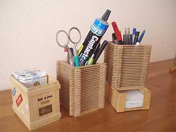 Crea bonitas manualidades con palitos de madera - Manualidades y bricolaje para el hogar ...