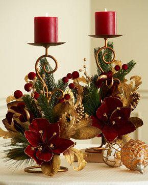Crea bonitos porta velas navide as con copas de cristal for Puertas decoradas con flores de papel