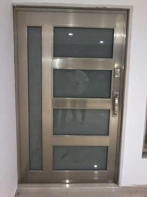 Dise os de puertas de herrer a m s modernas y m s hermosas - Disenos puertas de madera exterior ...