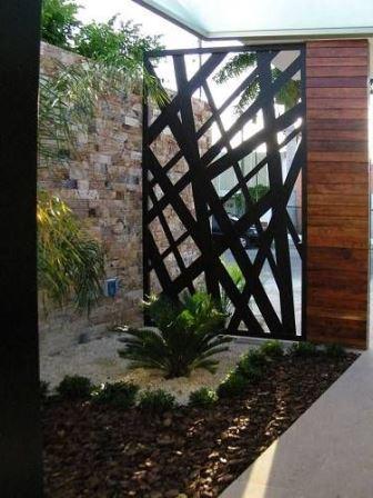 Dise os de puertas de herrer a m s modernas y m s hermosas for Foto contemporanea de jardin
