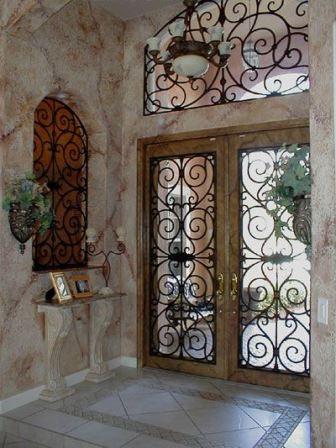 Dise os de puertas de herrer a m s modernas y m s hermosas for Precio de puertas para casa