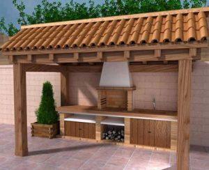 Dise os de asadores para poner en el patio for Disenos de patios pequenos modernos
