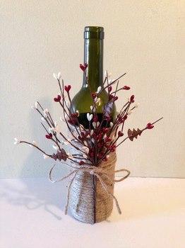 Centros de mesa con botellas de vidrio for Mesas de centro en vidrio