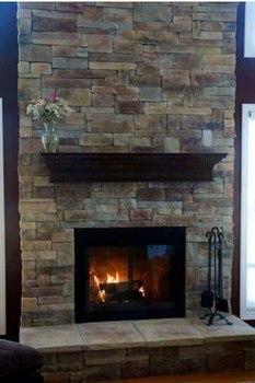 Chimenea de ensue o decoradas con piedra - Lana de roca para chimeneas ...