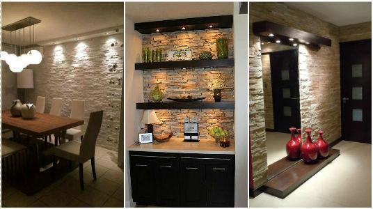 Ideas para recubrir las paredes con piedra for Piedra barata para paredes