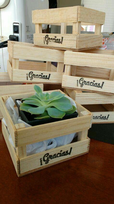 Crea bellas y decorativos macetas con cajas de madera - Cajones decorativos ...