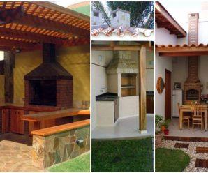 Bellos asadores techados para tu patio