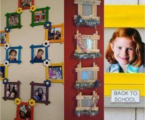 Bellos Porta Retratos Hechos Con Palitos