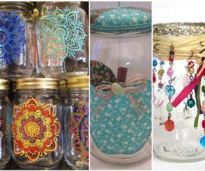 lindísimos frascos de cristal reutilizados