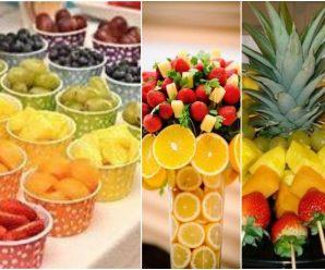 Deliciosos, creativos, sanos y bellos centros de mesa.