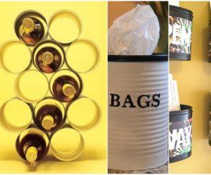 Excelente uso casero para tus latas